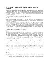 8. The Ministry and Covenant of Jesus Superior to ... - Gospel Lessons