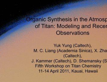 Yuk Yung - University of Hawaii at Manoa