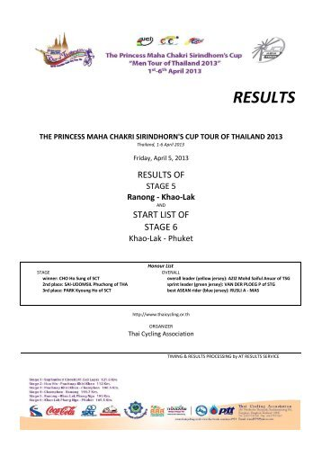 ToT2013 Results Stage 5m