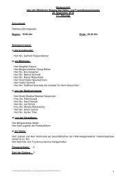 und Touristikausschusses 20. September 2010 - Heiligenhafen