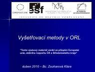 Vyš.metody ORL