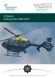 D District Policing Plan 2009-2010 - Police Service of Northern Ireland