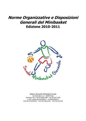 Norme Organizzative e Disposizioni Generali del Minibasket