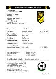 Baardwijk Bulletin seizoen 2012/2013 - vv Baardwijk