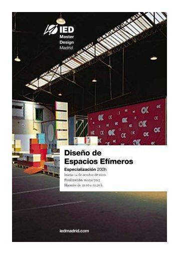 Diseño de Espacios Efímeros - IED Madrid