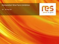 Exhibition Boards - Penmanshiel Wind Farm