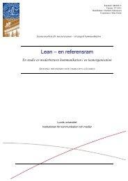 Lean – en referensram - Lean Forum