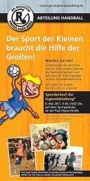 Der Sport der Kleinen braucht die Hilfe der Großen! - SG rotation