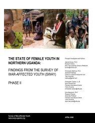 The State of Female Youth in Northern Uganda - Chris Blattman