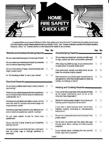 Fice safety checklist template for Fire safety checklist template
