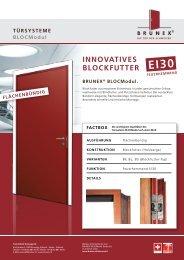 InnovATIveS BlockFUTTeR BRUneX® BlocModul.