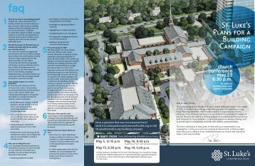 Building Campaign Trifold Download - St. Luke's United Methodist ...
