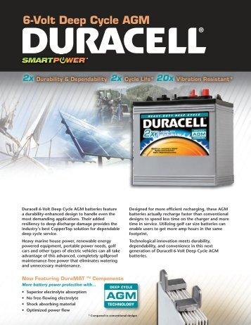 6-Volt Deep Cycle Flyer - Drive Duracell