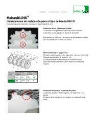 Instrucciones de instalación para el tipo de banda M5131 - Habasit