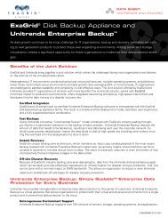 ExaGrid® Disk Backup Appliance and Unitrends Enterprise Backup™