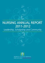 NURSING ANNUAL REPORT 2011-2012 - Women's College Hospital
