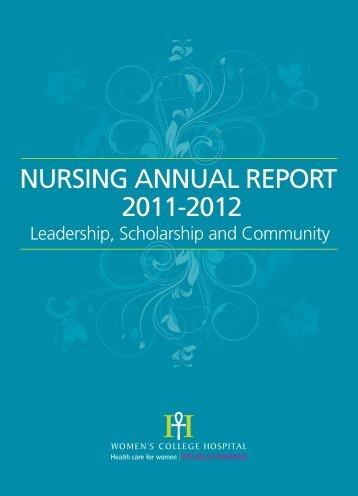 NURSING ANNUAL REPORT 2011-2012 - Women's College Hospital
