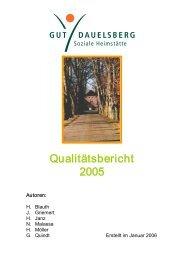 Qualitätsbericht 2005 - Bezirksverband Oldenburg