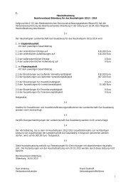 1 1. Haushaltssatzung Bezirksverband Oldenburg für das ...