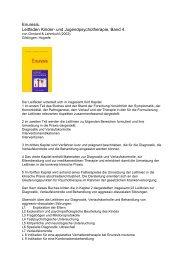 Enuresis. Leitfaden Kinder- und Jugendpsychotherapie, Band 4.