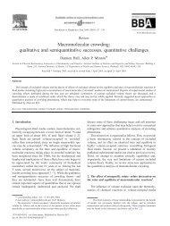 Macromolecular crowding: qualitative and semiquantitative ...