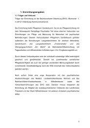 Wohnbereich 4 und 5 PHS - Bezirksverband Oldenburg