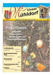März 2011- Seiten 1 - Marktgemeinde Mühldorf in der Wachau