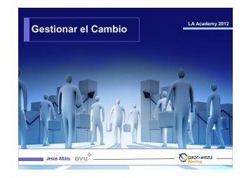 O.6 Gestión del cambio en las organizaciones empresariales