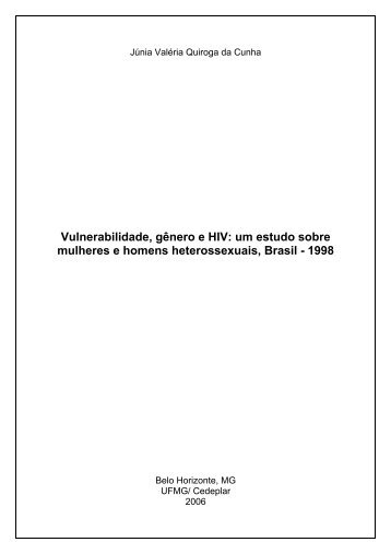 Vulnerabilidade, Gênero e HIV: Um Estudo sobre Mulheres - UFMG
