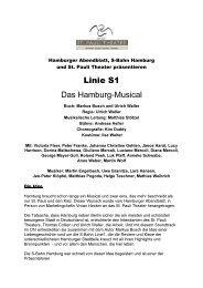 Linie S1 Das Hamburg-Musical - St. Pauli Theater