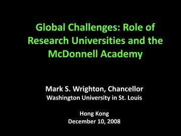 Global Challenges - mageep - Washington University in St. Louis
