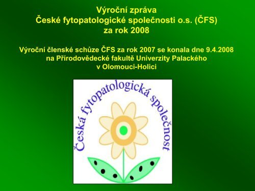 výroční zprávu za rok 2008