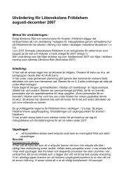 Utvärdering för Lötenskolans Fritidshem augusti ... - Flens kommun
