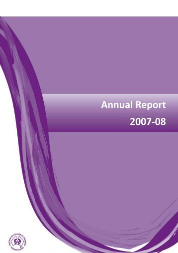 ACM Annual Report 2007 - 2008 - Australian College of Midwives