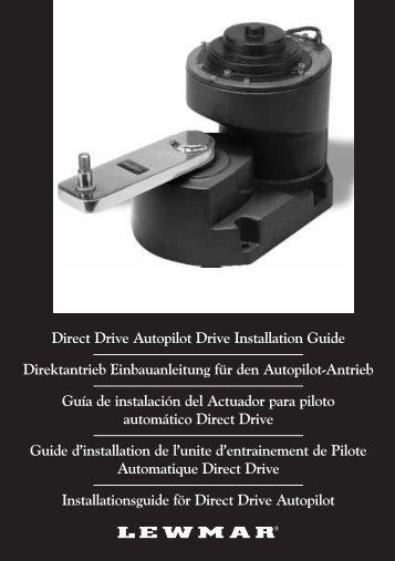 Direct Drive Autopilot Drive Installation Guide ... - Lewmar