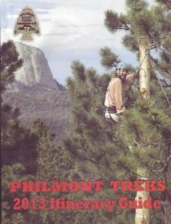 Itinerary 5 - Philmont Document Archives