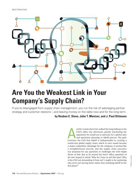 Are You the Weakest Link in Your Company's Supply Chain?
