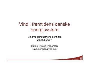 Vind i fremtidens danske energisystem - Ea Energianalyse