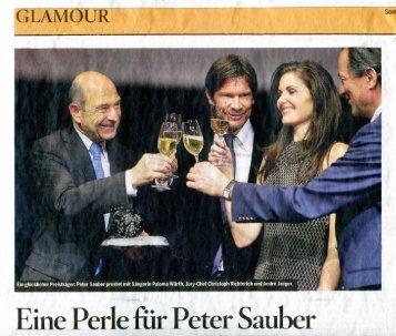 Eine Perle fiir Peter Sauber - Paloma