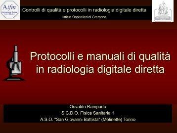 Ramapdo_Protocolli e Manuali di qualità - Aifm