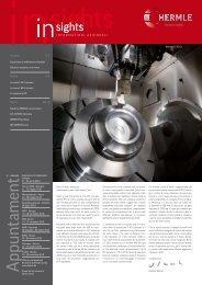 INSIGHTS I 2010 - Maschinenfabrik Berthold Hermle AG