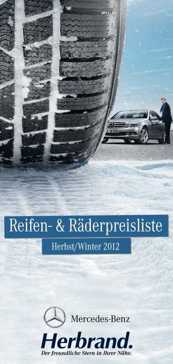 Reifenpreisliste Herbst/Winter