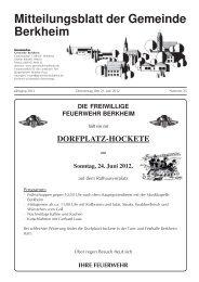 Sonntag, 24. Juni 2012 - Berkheim