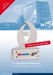 Der Innovationstwettbewerb für alle Aussteller der EMO 2011.