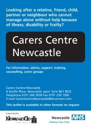 Carers Centre Newcastle - Newcastle City Council