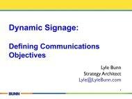 Dynamic Signage: - Lyle Bunn