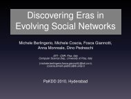 Discovering Eras in Evolving Social Networks - Michele Coscia