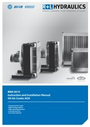 BMA 0010 Instruction and Installation Manual Oil-Air Cooler ACN