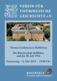 Thomas Lindenmeyer - Verein für Thüringische Geschichte