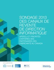 Direction Informatique Channel Census 2012 wp ... - IT World Canada